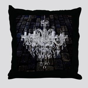 rustic grunge vintage chandelier Throw Pillow
