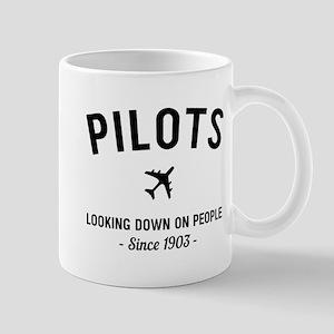 Pilots Looking Down On People Since 1903 Mugs