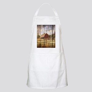 western country red barn Apron