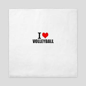 I Love Volleyball Queen Duvet