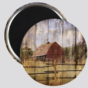 western country red barn Magnet
