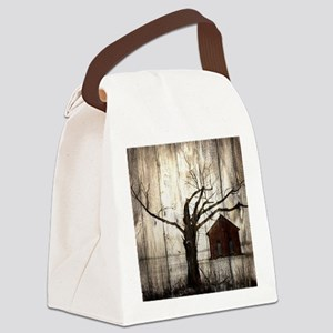 rural landscape old barn Canvas Lunch Bag