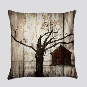 rural landscape old barn Everyday Pillow