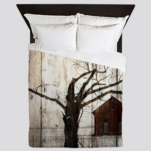 rural landscape old barn Queen Duvet