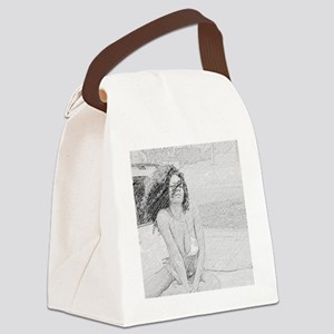 bw swimsuit Canvas Lunch Bag