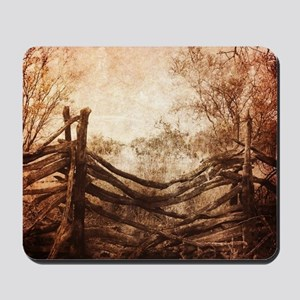 rural landscape fence farm Mousepad