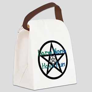 Green Large Canvas Lunch Bag