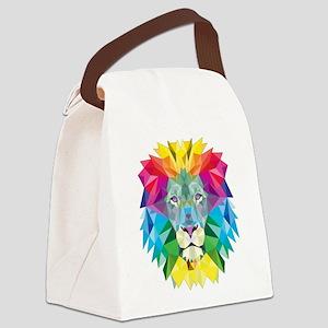 Rainbow Lion Canvas Lunch Bag