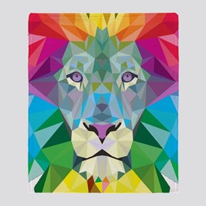 Rainbow Lion Throw Blanket