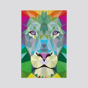 Rainbow Lion Rectangle Magnet