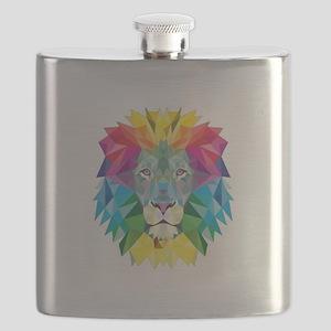 Rainbow Lion Flask