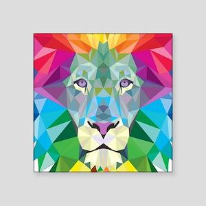 "Rainbow Lion Square Sticker 3"" x 3"""