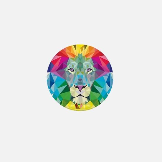 Rainbow Lion Mini Button