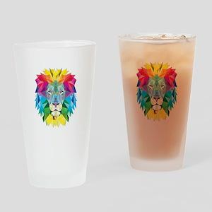 Rainbow Lion Drinking Glass