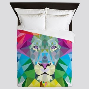 Rainbow Lion Queen Duvet