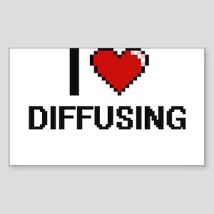 I love Diffusing Sticker