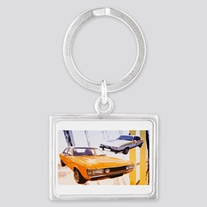 Cops & Robbers Landscape Keychain