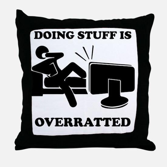 Doing Stuff Throw Pillow