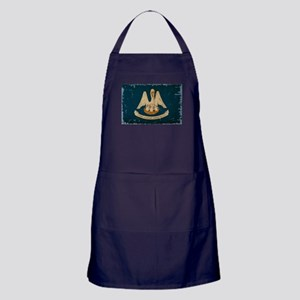 Louisiana State Flag VINTAGE Apron (dark)