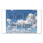 Rapture Wear! Car Rectangle Sticker