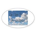 Rapture Wear! Car Oval Sticker