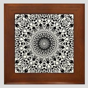 Tribal Mandala Framed Tile