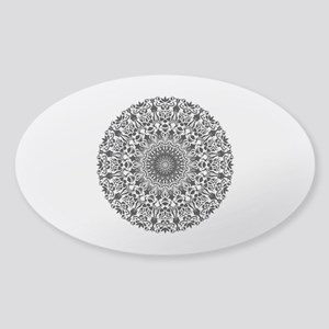 Tribal Mandala Sticker (Oval)