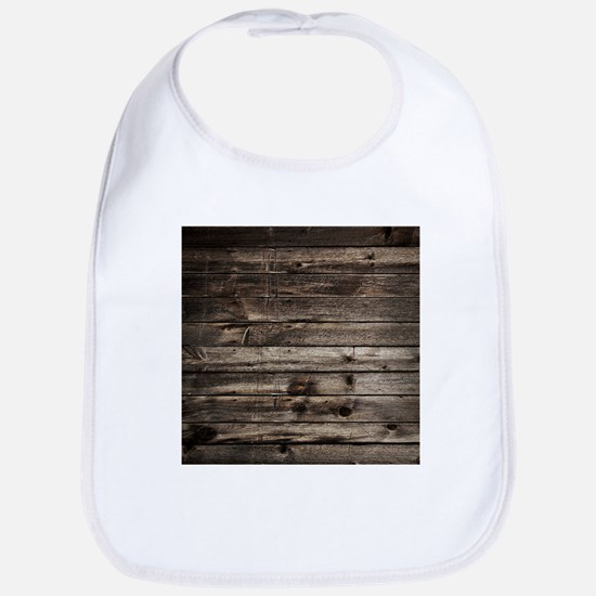 rustic primitive grey barn wood Bib