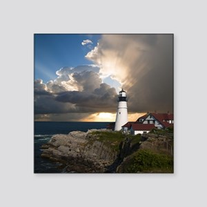 """Country Lighthouse Square Sticker 3"""" x 3"""""""