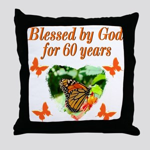 60TH BLESSING Throw Pillow