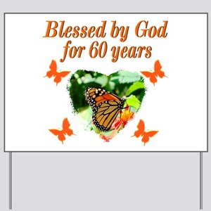 60TH BLESSING Yard Sign