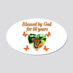 60TH BLESSING 20x12 Oval Wall Decal