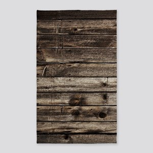 rustic primitive grey barn wood Area Rug