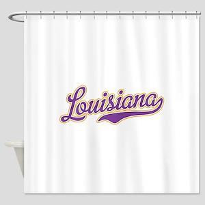 Louisiana Royal Purple and Gold-01 Shower Curtain