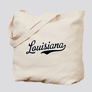 Louisiana Script Black Tote Bag