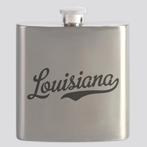 Louisiana Script Black Flask