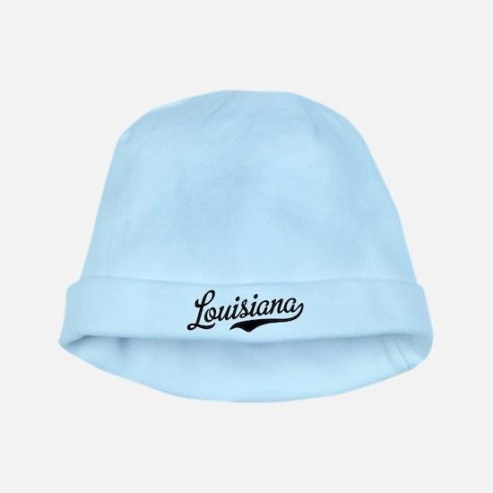 Louisiana Script Black baby hat