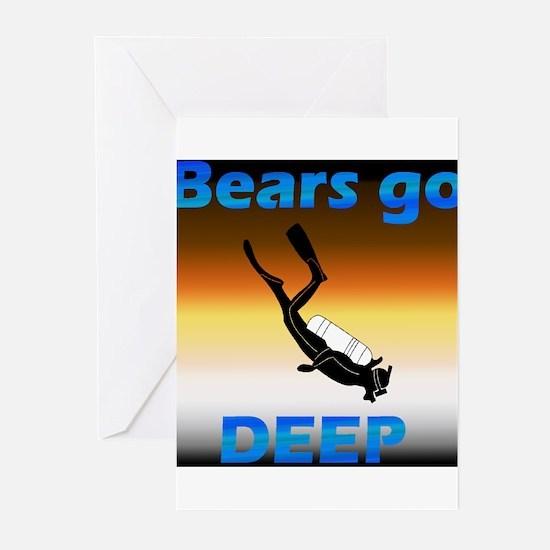 Scuba Bears Go Deep Greeting Cards (Pk of 10)