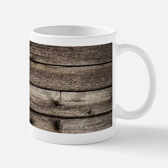 rustic primitive grey barn wood Mugs