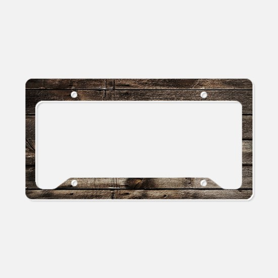 rustic primitive grey barn wo License Plate Holder