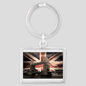 Union Jack London Landscape Keychain