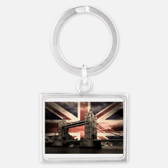 Union Jack London Landscape Keychain