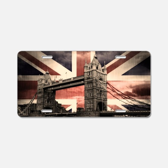 Union Jack London Aluminum License Plate