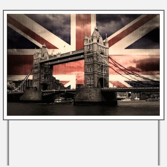 Union Jack London Yard Sign