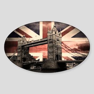 Union Jack London Sticker (Oval)