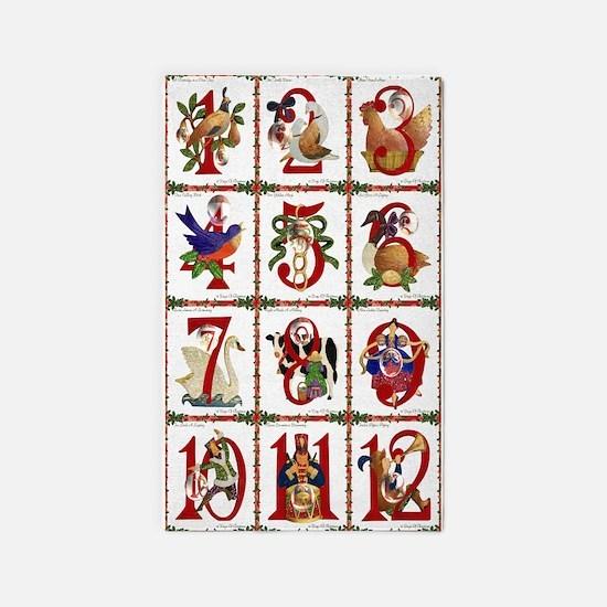 12 Days Of Christmas Area Rug