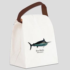 Blue Marlin Canvas Lunch Bag