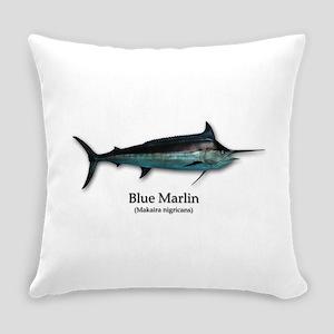 Blue Marlin Everyday Pillow