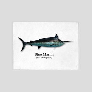 Blue Marlin 5'x7'Area Rug