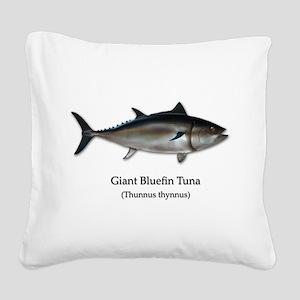 Bluefin Tuna Square Canvas Pillow